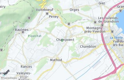Stadtplan Champvent