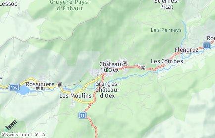 Stadtplan Château-d'Oex