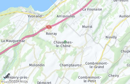 Stadtplan Chavannes-le-Chêne