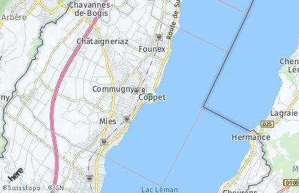 Stadtplan Coppet