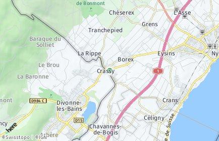 Stadtplan Crassier