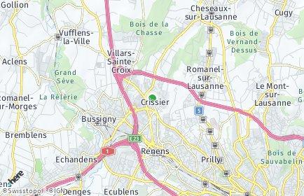 Stadtplan Crissier