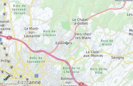 Stadtplan Epalinges