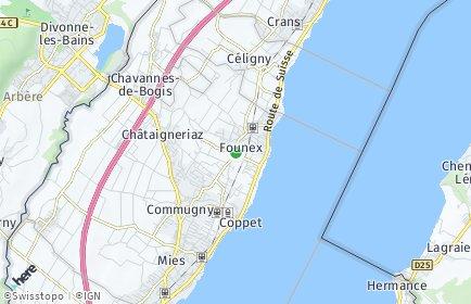 Stadtplan Founex