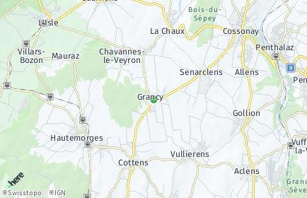 Stadtplan Grancy