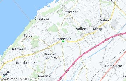 Stadtplan Grandcour