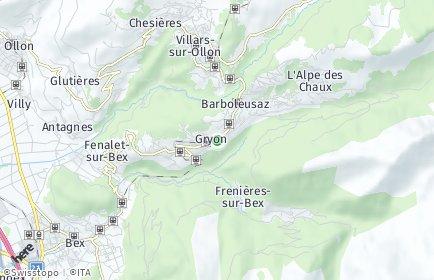 Stadtplan Gryon