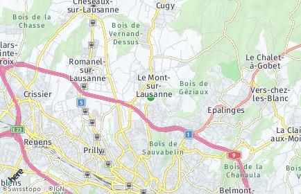 Stadtplan Le Mont-sur-Lausanne