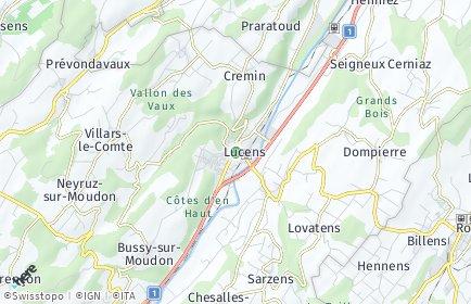 Stadtplan Lucens