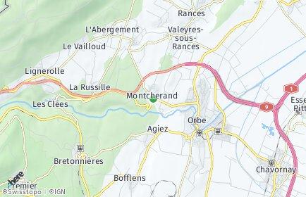 Stadtplan Montcherand