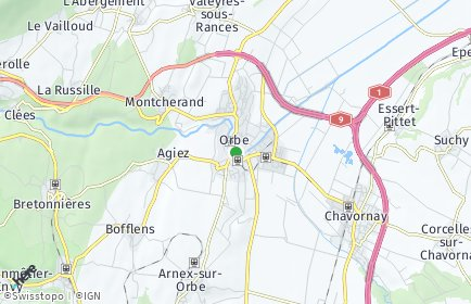 Stadtplan Orbe