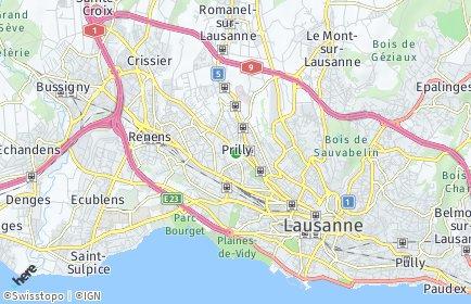 Stadtplan Prilly