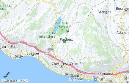 Stadtplan Puidoux