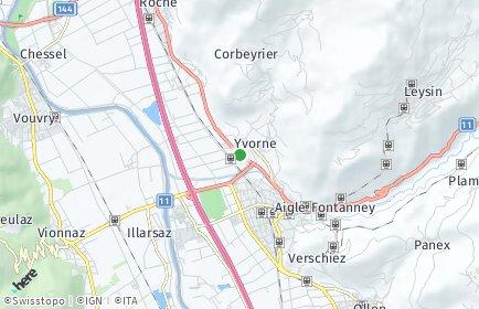 Stadtplan Yvorne