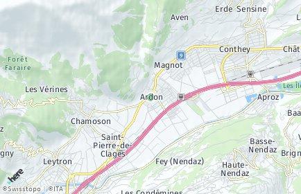 Stadtplan Ardon