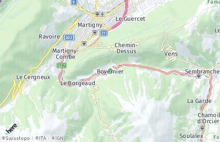 Stadtplan Bovernier