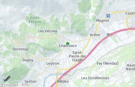 Stadtplan Chamoson