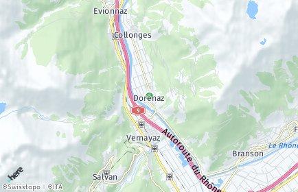 Stadtplan Dorénaz