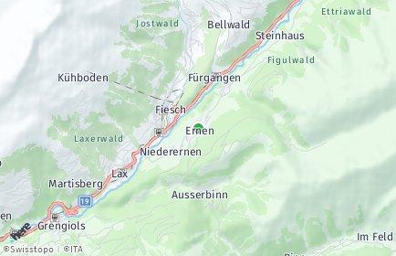 Stadtplan Ernen