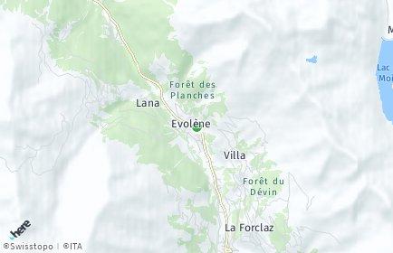 Stadtplan Evolène