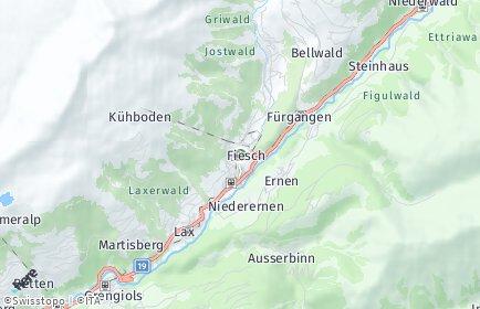 Stadtplan Fiesch