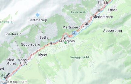 Stadtplan Grengiols