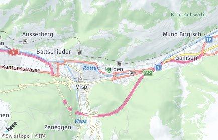 Stadtplan Lalden