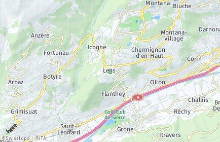 Stadtplan Lens