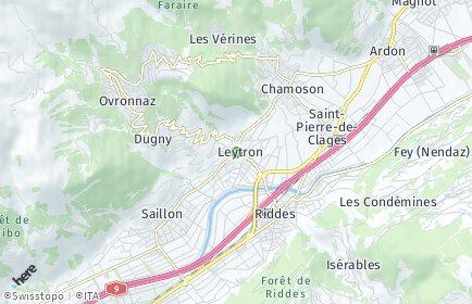 Stadtplan Leytron