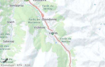 Stadtplan Liddes