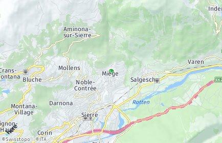 Stadtplan Miège