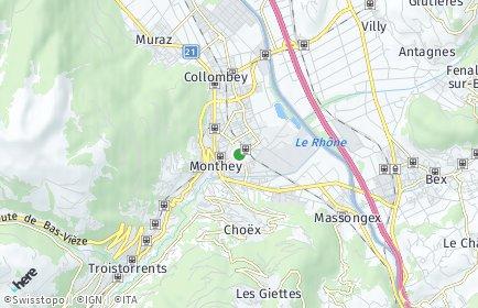 Stadtplan Monthey
