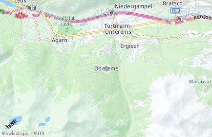 Stadtplan Oberems