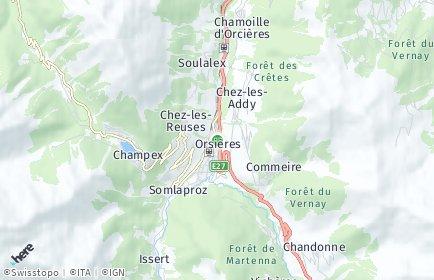 Stadtplan Orsières