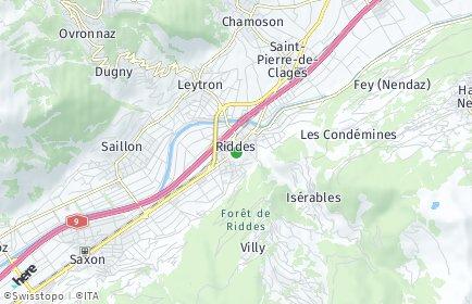 Stadtplan Riddes