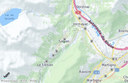 Stadtplan Salvan