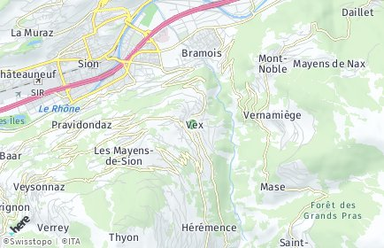 Stadtplan Vex