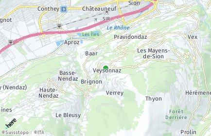 Stadtplan Veysonnaz
