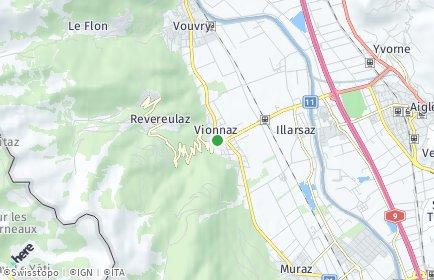 Stadtplan Vionnaz