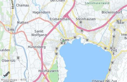 Stadtplan Cham (ZG) OT Hagendorn