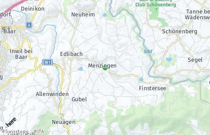 Stadtplan Menzingen