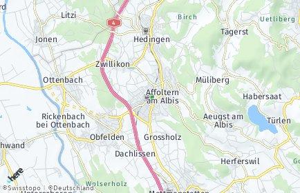 Stadtplan Affoltern am Albis OT Oberdorf