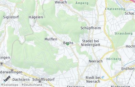 Stadtplan Bachs