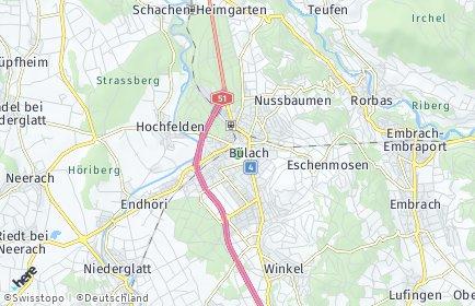 Stadtplan Bülach OT Bülach