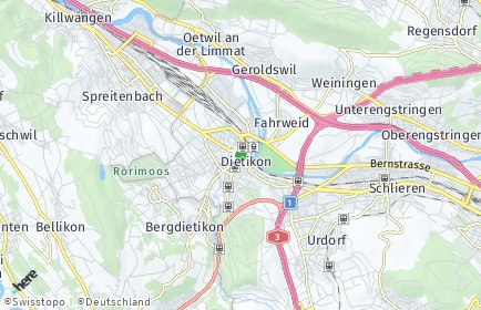Stadtplan Dietikon