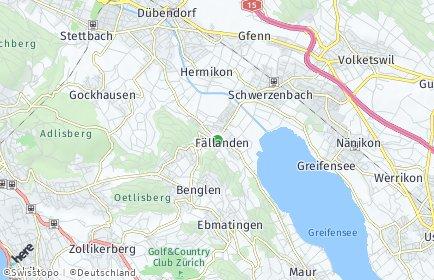 Stadtplan Fällanden OT Pfaffhausen