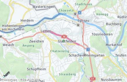 Stadtplan Glattfelden