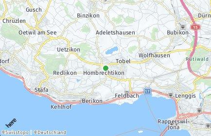 Stadtplan Hombrechtikon OT Feldbach