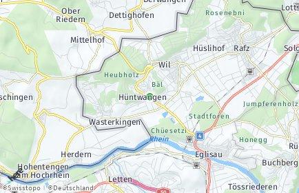 Stadtplan Hüntwangen