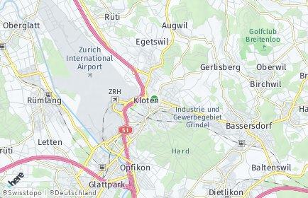 Stadtplan Kloten OT Rank